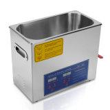 líquido de limpeza ultra-sônico comercial de Digitas do aço inoxidável de onda 6L ultra-sônica
