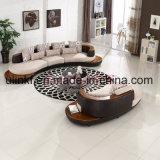Sofà di cuoio della mobilia 1+2+3 domestici moderni di successo (UL-NSC185)