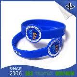 Großhandelszoll gedruckte Gummisilikon-ArmbänderWristbands
