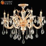 Klassischer kleiner Kognak-Kristallkerze-Leuchter-hängende helle Kerze-Lampe für Hochzeit Om88033
