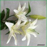 Орхидея искусственних цветков реального касания белая поддельный для домашнего украшения венчания