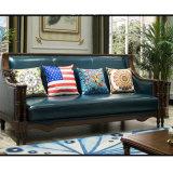 ホーム家具(AS843)のための米国式の本革のソファー