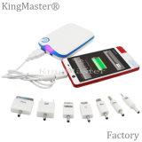 날짜 케이블 휴대용 배터리 충전기를 가진 Kingmaster 6000mAh 고용량 힘 은행