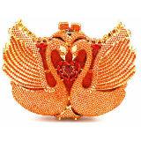 Муфта партии мешка вечера фабрики Китая цветастая кристаллический каменная морщит сумка для женщин Leb889
