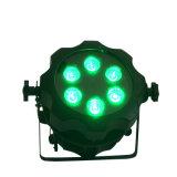 Rasha Aquos Aluminium LED des Cer-anerkanntes 6*15W 5in1 Rgbaw batteriebetriebenes drahtloses NENNWERT helles Stadiums-Disco-Licht