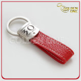 Formato Oval Antique Gold Metal em relevo & Leather chave fob