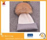 Теплые шлемы крышки шерстей с Pompom шерсти Raccon