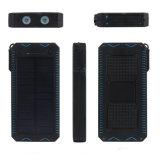 Banco Multifunctional da potência solar com o carregador solar do isqueiro 10000mAh do cigarro