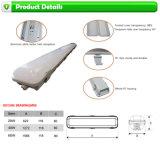 Appareil d'éclairage tri-proof de 40W, lampe LED Batterie 1200mm, lampe à LED anti-déflagrante IP65