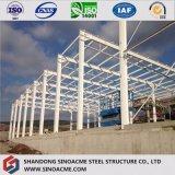 熱いすくいの鋼鉄の梁が付いている電流を通された鉄骨フレームの保管倉庫