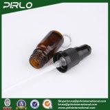 bernsteinfarbige Glasflaschen des spray-5ml mit schwarzem Lotion-Sprüher