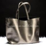 2017 bolsas de couro do ombro das mulheres novas dos sacos de compra da grande capacidade das bolsas do couro da forma