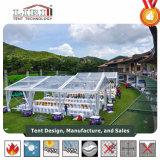 5000 places tente blanche tente d'exposition en plein air avec mur de la publicité