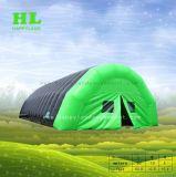 おやすみなさいを楽しむ野外活動のための普及したカスタマイズされた玄関ひさしのイグルーの膨脹可能なドームのテント