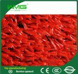 Roter Fußball-synthetisches künstliches Rasen-Gras