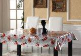 O Tablecloth impresso PVC gravado prata todo projeta