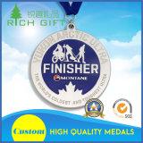 Изготовленный на заказ медаль пожалования хоккея на льду заплывания Marathon/с формой диаманта