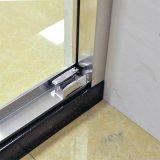 Quarto Acabamento em aço inoxidável escovado do Divisor de porta do chuveiro