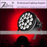 DMX LED NENNWERT Lampe RGBWA 5 in 1 LED-Beleuchtung-Wäsche-Scheinwerfer für Konzert-Ereignis-Produktion