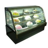 China Bolo de mármore da porta de vidro Comercial Exibir frigorífico congelador