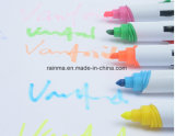 De Promotie Tweezijdige Plastic Ballpoint van uitstekende kwaliteit en Highlighter van 4 Kleur
