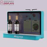 Dekorative Förderung-kleiner Gegenacrylwein oder Getränk-Flaschen-Bildschirmanzeige-Regal