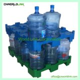 240 kg de carga de botellas de 5 galones de agua potable de palets de la cuchara