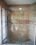 Sanitray Ware douche porte de douche en verre trempé de bord pour salle de bains