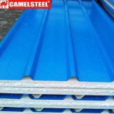 Plaque en acier enduite d'une première couche de peinture galvanisée plongée chaude avec le type ondulé ou de T