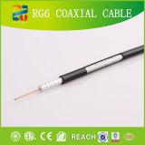 Usine coaxiale coaxiale de liaison de la Chine de 2 câbles d'alimentation du câble RG6 d'aperçu gratuit