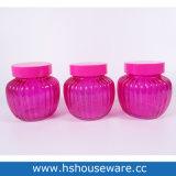 분홍색 완벽한 PP 뚜껑 유리 양철통