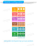 6 Bandejas refrigerado com as seleções de 6 máquina de venda automática com leitor de cartões