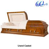 Cofanetto funereo adulto Polished professionale del legname della bara del velluto