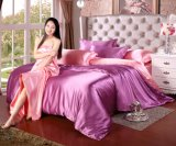 Hochwertige preiswerte Preis-Polyester-Fleck-Seide-Bettwäsche