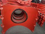 Selle de filetage chaude H700X400, selle, bride de selle, té de filetage, selle de branchement, selle de filetage de pipe pour la pipe de fer de moulage, pipe malléable de fer