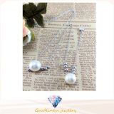 新しいWhite Pearl CZ Stone Rhodium Plating Gift Wholesale Se3339のDesign Women Sterling Silver Set Jewellry