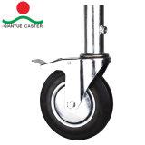Сооружением самоустанавливающегося колеса с 6 по 8 в черную резиновую пресс-форм на стальные колеса