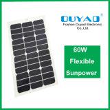Панель солнечных батарей Sunpower Semi гибкой панели солнечных батарей панели солнечных батарей 60W гибкая