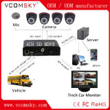 4 canais D1 Mini SD 3G + WiFi+GPS+G-Force School Bus Mobile DVR