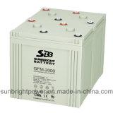 Batería 2V2000ah del sistema de energía solar para el paquete 220V del poder más elevado