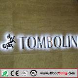 Vendas de metal de galvanização a quente LED aceso sinais de porta dianteira