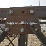 Tour de télécommunication galvanisée de haute qualité d'acier de cornière de 4 pattes