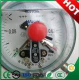 Contact électrique résistant aux vibrations manomètre de dépression d'acier inoxydable