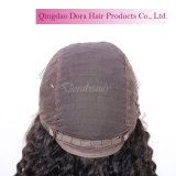 Cheveux humains indiens naturel brut Curly Remy Lace Wig