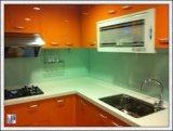 vidrio endurecido pintado coloreado 6m m para el panel del chapoteo de la cocina