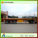 4 ESSIEUX 40FT conteneur semi-remorque de camion à plat long véhicule