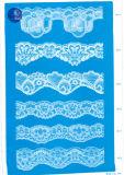 Elástica tela del cordón de la ropa / ropa / zapatos / bolso / la caja M001 (ancho: 8 cm)