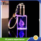 Keychain di cristallo con l'indicatore luminoso del LED