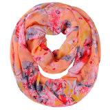Флористический напечатанный шарф полиэфира способа женщин шифоновый (YKY1118)