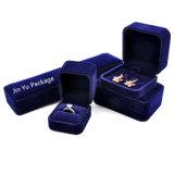 De tamaño personalizado de cuero negro mate de joyería de lujo en papel de embalaje de regalo
